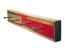 Six Finger Studios - 4 Hook Coat Rack Recycled Wood (Scarano Style), Adobe, 4 Hook - 4 Hook Coat Rack Recycled Wood (Scarano Style)