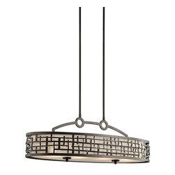 "Kichler - Kichler 43046OZ Loom Single-Tier Linear Chandelier w/4 Lights - Stem - 36"" Wid - Product Features:"