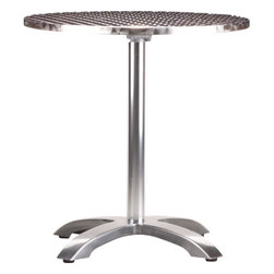 Eddy Round Outdoor Table - I see this being used for an evening supper or late breakfast for two in the backyard or on the front porch.