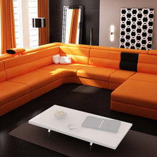 Contemporary Sectional Sofas Polaris Orange Contemporary Sectional Sofa