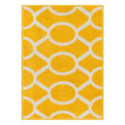 "Loloi Rugs - Loloi Rugs Terrace Collection - Lemon / Ivory, 2'-5"" x 3'-9"" - Bold design and bright colors come together beautifully in the outdoor-friendly Terrace Collection. Each Terrace rug is power loomed in Egypt of 100% polypropylene that's specially treated to withstand rain and UV damage without staining or fading color.�"