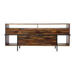 Marco Polo Imports - Parker Escher Dresser - This elegant dresser combines the rustic charm of natural wood with contemporary designs, giving new life to salvaged wood. The iron detail creates a hand-crafted, singular look, ensuring that each piece is truly unique.