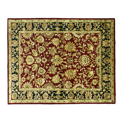 """Maharaja Collection 8X10 Hand Made 1/2"""" Thick & Plush Kashan Design Rug SH143 - High Quality Close-Out Rugs"""