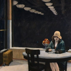 Wallmonkeys Wall Decals - Fine Art Murals Automat by Edward Hopper  - 48 Inches W x 37 Inches H - Easy to apply - simply peel and stick!