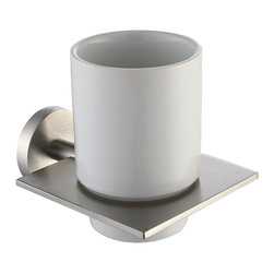 Kraus - Kraus Imperium Bathroom Accessories - Wall-mounted Ceramic Tumbler Holder Brushe - *Kraus  is the premier manufacturer and designer of the bath fixtures and accessories, offering top of the line products that showcase a deft blending of breakthrough technology and aesthetic ardor