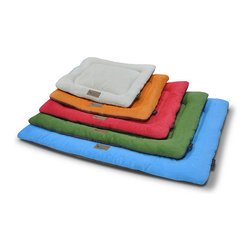 Frontgate - Chill Pet Pad - Pet pad is ideal for the car, patio, dog crate, and around the house. Durable construction for long lasting use. Filled with eco-friendly, high-loft PlanetFill™ fiber. Elevated edges provide comfort and help secure pet. Machine wash, tumble dry. Keep furniture free of pet hair by giving pets a space of their own when lounging or napping. Ideal for indoors, outdoors, the car, or dog crates, the Chill Pad allows pets to curl up in plush comfort. Designed with elevated edges and filled with high-loft PlanetFill fiber for soft cushioning and support.  .  . Filled with eco-friendly, high-loft PlanetFill fiber .  .  . Choice of five sizes . Imported.