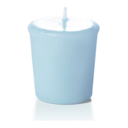 "Neo-Image Candlelight Ltd - Set of 36 - Yummi Votive Candles - 44 Colors, Ice Blue, 1.75""x2"" - Our unscented 15 hour Votive Candles are ideal when creating a beautiful candlelight arrangement for the home or wedding decor.  Available in 44 trendy candle colors hand over dipped with white core to match and compliment your home decor or wedding centerpiece decoration."