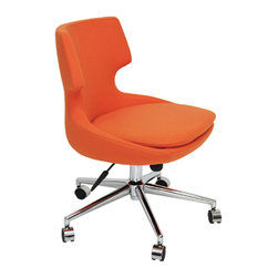 sohoConcept - Patara Office Chair - Designed by sohoConcept studio, Patara office is a distinctive chair with a comfortable upholstered seat and backrest on a height-adjustable gas piston base which swivels and tilts. The chair has a chromed steel five star base with plastic casters. The seat has a steel structure with S shape springs for extra flexibility and strength. This steel frame molded by injecting polyurethane foam. Patara seat is upholstered with a removable zipper enclosed leather, PPM or wool fabric slip cover. Patara office chair could be upholstered with Maharam Kvadrat fabrics as a special order. The chair is suitable for both residential and commercial use.