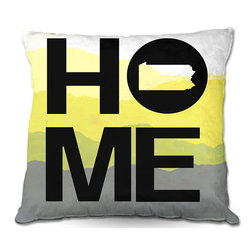 DiaNoche Designs - Pillow Woven Poplin - Jackie Phillips Home Pennsylvania Yellow - Toss this decorative pillow on any bed, sofa or chair, and add personality to your chic and stylish decor. Lay your head against your new art and relax! Made of woven Poly-Poplin.  Includes a cushy supportive pillow insert, zipped inside. Dye Sublimation printing adheres the ink to the material for long life and durability. Double Sided Print, Machine Washable, Product may vary slightly from image.