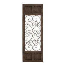 """BZBZ52792 - Wood Metal Wall Panel in Dark Brown Color with Classic Style - Wood Metal Wall Panel in Dark Brown Color with Classic Style. This wall panel is perfect for elevating your decor both at home and outdoors. Place it in your hall, living room, at the entrance or in the passage and add simple elegance that will not go unnoticed. It comes with a following dimensions 20""""W x 1""""D x 57""""H."""