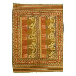 eSaleRugs - 6' 10 x 9' 2 Pictorial Sumak Rug - SKU: 22139468 - Hand Woven Pictorial Sumak rug. Made of 100% Wool. Brand New.