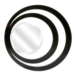 Imax - Glamourazzi Round Circle Art Modern Art Deco Wall Mirror Decor - Glamourazzi round circle art modern art deco wall mirror decor Imax 70386