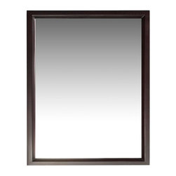 "Simpli Home - Urban Loft  Espresso Vanity Mirror - The Simpli Home 22"" x 30"" Urban Loft Vanity Mirror is designed to match our Urban Loft Collection Vanities.  The mirror matches the contemporary style of the collection and is finished in a dark espresso brown finish"