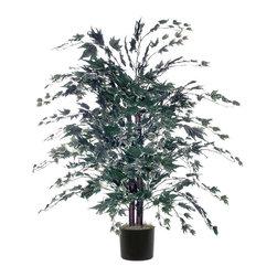 Vickerman - 4' Silver Maple Bush - 4' Silver Maple Bush in Black Plastic Pot