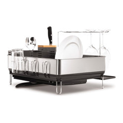 Steel Frame Dishrack With Wine Glass Holder