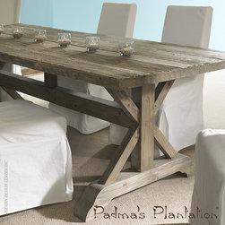 "Padma's Plantation Salvaged Wood 84"" Dining Table - Padma's Plantation Salvaged Wood 84"" Dining Table"