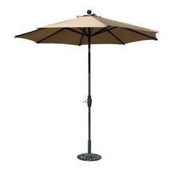 Ace Evert 9-Feet Auto Tilt Market Umbrella, Olefin Fabric, Khaki