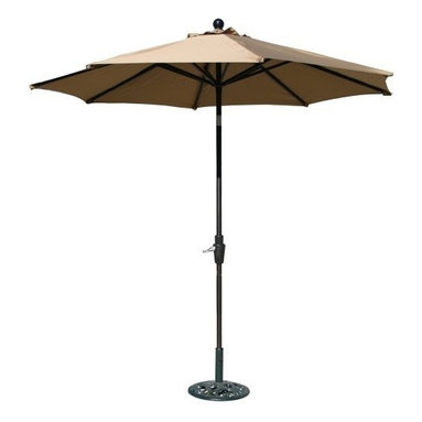 Ace Evert 9-Feet Auto Tilt Market Umbrella, Olefin Fabric, Khaki - I chose a tilting umbrella for my patio table because it can be directed to block the sun. It works much better than a static umbrella.