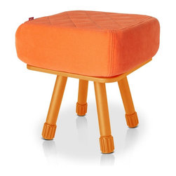 Fatboy - Krukski Stool, Orange Legs With Orange Tablitski Cushion - The Baboesjka pillow is made with high quality, super soft, water repellent, polyester fabric