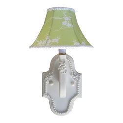 Charn&Co. - Pagoda Lime Wall Sconce - Think outside the box, using unique color schemes like this beautiful pagoda lime wall sconce. Perfect for any type of chic and fabulous nursery!