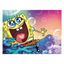 Oriental Furniture - SpongeBob Wall Art - This authentic, colorful, authorized limited edition image of a bubbly SpongeBob Square Pants is carefully and beautifully reproduced with modern giclee print technology on professionally stretched art quality canvas. Delightful children's wall art that is ideal for brightening the playroom, family room, bedroom or nursery and ready to mount on the wall right out of the box.