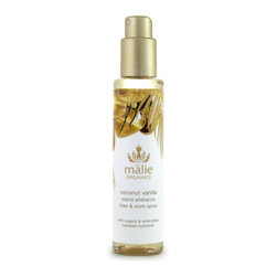 Malie Organics 'Coconut Vanilla' Organic Linen & Room Spray - A simple and instantaneous way to scent any room in your home, the office or even a hotel room. Enhance your given environment and let the experience embrace you. Infused with Hawaiian hydrosols, an organic spray brings the essence of paradise straight to you.The exotic union of the coconut's lush, fragrant oils with heavenly vanilla offers a sense of island tradition, filling you with a sensual, relaxing aroma.Malie embodies the magnificence of Hawaii by distilling tropical flora and creating Hawaiian hydrosols, the truest essence of a flower and the heart of the linen and room spray. Spritz the air with the light mist to create an uplifting atmosphere or spray onto your linens before drifting into an island dreamland. Relax and indulge in the aroma of paradise with Malie Organics.Safe on all linens and skin. 70% of ingredients produced by certified-organic farming techniques. Brand: MALIE ORGANICS. Style Name: Malie Organics 'Coconut Vanilla' Organic Linen & Room Spray. Style Number: 648179.