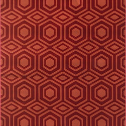 "Loloi Rugs - Loloi Rugs Goodwin Collection - Red / Rust, 3'-10"" x 5'-7"" - Go bold with the big graphic patterns featured in the Goodwin Collection. Power loomed in Turkey of 100% polypropylene, expect amazing color fastness from the resilient fiber and unparalleled durability from the densely packed yarns. Available in scatter, regular, round, and runner sizes."