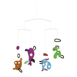 Flensted Mobiles - Asger Jorn Mobile - Inspire your child's imagination with the colorful figures in this unique mobile. Drawn from early ink sketches of Danish designer Asger Jorn, these characters are packed with personality. Which one is your favorite?