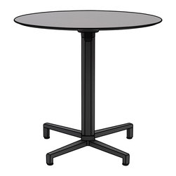 Eurostyle - Domino Dining Table Folding - Anthracite - Aluminum square column