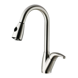 VIGO Industries - VIGO Stainless Steel Pull-Out Spray Kitchen Faucet - Purchase a VIGO faucet that is sure to accentuate your kitchen design for years to come.