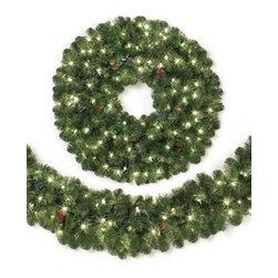 Sedona Fir Christmas Wreath & Garland - ENJOY THE LUSH GREENS OF OUR SEDONA FIR CHRISTMAS WREATH AND GARLAND