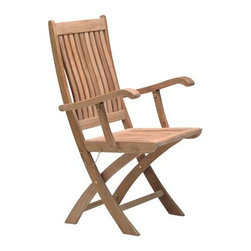 Fifthroom - Teak Sailor Chair - Even landlubbers will enjoy our stylish Sailor Chair.  It's crafted from the finest Burma Teak, for incomparable quality and durability.  This versatile chair can be used with any of our tables, by itself, or as part of a group, for your gazebo, deck, patio, porch, or yard.  Add one of our colorful cushions for extra style and comfort.