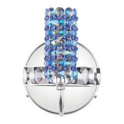 Schonbek Lighting - Schonbek Lighting ELW0506SAP Elements Silver Wall Sconce - 1 Bulb, 40 Watt G9 Halogen; Product made-to-order, 6-8 week lead time