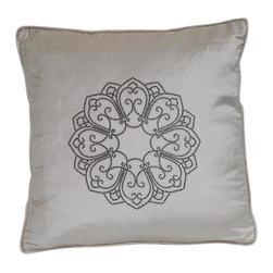 VIG - Modrest Ivory Elegant Faux Crystal Throw Pillow - Modrest Ivory Elegant Faux Crystal Throw Pillow