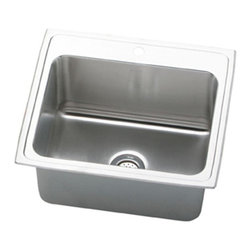Elkay - Elkay Kitchen Lustertone Top Mount Stainless Steel 25x21-1/4x10-1/8 4-Hole - The Lustertone effect an exclusive Elkay finish brings deep warm classic tones to stainless steel. Elkay's Lustertone collection allows your style to bask in Elkay's premium stainless steel glow. Lustertone's triple double and single bowl designs help create unforgettable space. Designed with functionality and beauty in mind each sink's underside is fully undercoated for superior sound dampening. With this extraordinary line of sinks youll never worry about your kitchen bath and bar design lacking luster. Color: Silver.
