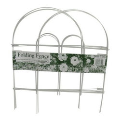 Glamos Wire 18 x 10 Garden Fence - 12 Pack - Let the Glamos Wire 18 x 10 Garden Fence - 12 Pack make your dreams of a home with a pretty fence come true. Establish borders, maintain mowing areas, or add a pop of color to your landscape by using a series of these fence sections. This 12 pack of fencing looks lovely when lining your driveway, a flowerbed, your vegetable garden, or a sidewalk. Galvanized wire is weather-resistant and will last for several planting seasons.About Glamos WireSince 1899, the Glamos family has been perfecting the art and science of wire. The fourth generation of the family is dedicated to continuing the legacy that was started so long ago by their great-grandfather. As one of the oldest and most respected names in the industry, Glamos Wire Products has a long-standing tradition of credibility and dependability, producing tomato cages, garden fencing, plant stakes, bale ties for recycling, concrete wire forms, and custom work. All Glamos products are manufactured from high-quality, 100 percent American-made wire. Located in Minnesota, the company is an innovator in plant support and gardening resources.