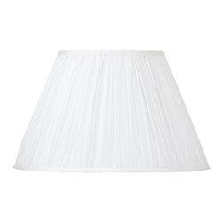 Cal Lighting - Cal Lighting SH-1004 Mushroom Pleated Silk Fabric Shade - Mushroom Pleated Silk Fabric Shade