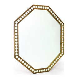 Billiards Mirror - A French country chic collection magnum opus, this brilliant Billiards Mirror is a work of art in itself. Carved out of the finest quality wood to ensure its durability, the elegance of this mirror multiples with its inlaid bone finished outer trim. Its octagonal shape is yet another point of attraction, this mirror is sure to captivate the onlooker at the very first glance.