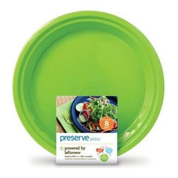 Preserve - Preserve Large Reusable Plates - Apple Green - 8 Pack - 10.5 In - Powered by Left overs