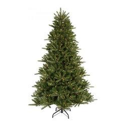 "essentialsinside.com: christmas tree 6.5' x 53"" vermont instant shape (C102266) - christmas tree-6.5' x 53"" vermont instant shape, 1276 tips /600 clear lights, available at www.essentialsinside.com"