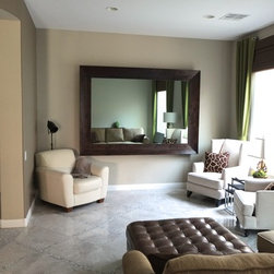 """In-Mirror TVS - Some call this a """"marriage saver,"""" the wife wants a beautiful living room and the husband wants his 75"""" TV. Massiv Brand has your solution have both using one of our In-MIrror TVs!"""