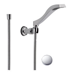 Delta - Delta Commercial 55051 Dryden Wall-Mount Handshower - Delta 55051 Dryden Collection offers a design style reminiscent of the Art Deco period  with geometric line for a clean and appealing addition to you design style. The Delta 55051 is a Wallmount Hand Shower in Chrome.