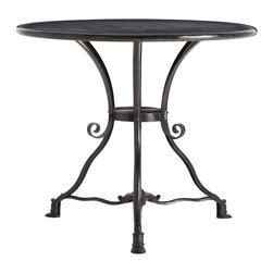 Arteriors - Lenny End Table - A traditional three legged iron scroll side table with a natural iron finish is the perfect piece between two wingback chairs. Note the scrolled detail on the legs and feet.