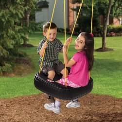 Little Tikes - Little Tikes Tire Swing Multicolor - 617331 - Shop for Swings Slides and Gyms from Hayneedle.com! Add classic fun to your backyard without dismantling the family car with the Little Tikes Tire Swing. This old-fashioned tire swing captures the spirit and thrill of the real thing without the messy rubber residue. Made from durable plastic the unrealistic square design may never roll like a wheel but it's more comfortable for little knees so two kids can ride at once. No assembly is required - just hang and away you go!