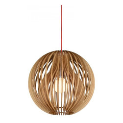ParrotUncle - Double Layer Wooden String Ball Contemporary Pendant Lamp - Double Layer Wooden String Ball Contemporary Pendant Lamp