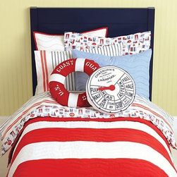 Nodical Nautical Bedding - Whether bought as a set or in pieces, this is a fun take on the classic nautical look that will make both you and your kids happy.