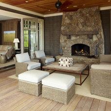 Traditional Porch Beach House-Kiawah Island