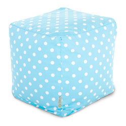 Indoor Aquamarine Small Polka Dot Small Cube