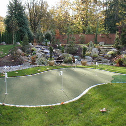 Sport Court Putting Greens & Artificial Turf Lawns - Custom Putting Green 15'x26'