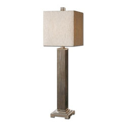 Uttermost - Uttermost 29576-1 Sandberg Buffet Lamp with Square Shade - Features: